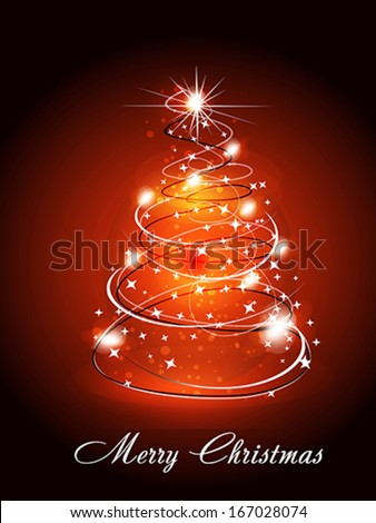 Christmas Tree Wtih Sparkle Vector illustration