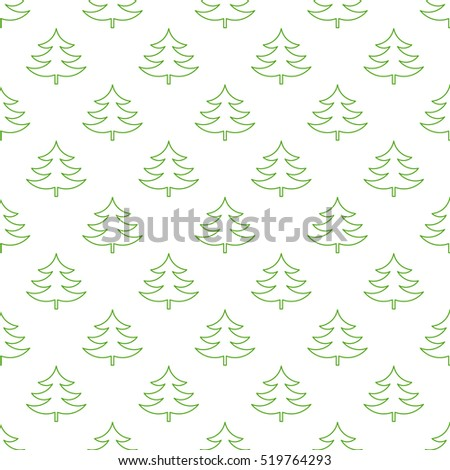 Christmas trees pattern illustration