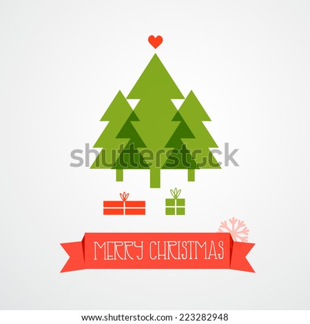 Christmas trees. Vector illustration - stock vector