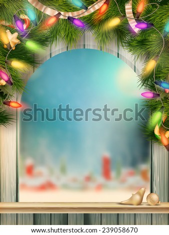 Christmas type design with snowflakes. EPS 10 vector file included - stock vector