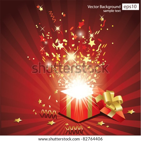 Christmas vector background - stock vector