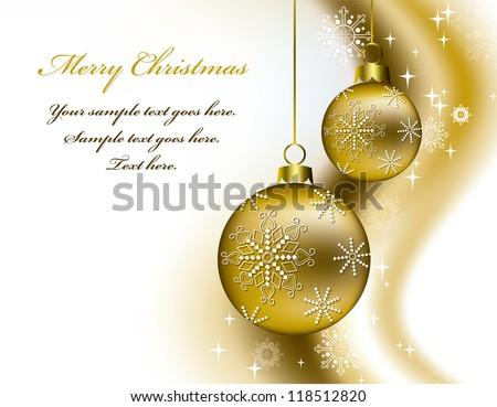 Christmas Vector Background. Eps10 Illustration. - stock vector