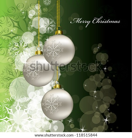 Christmas Vector Background. Eps10 Illustration. - stock vector