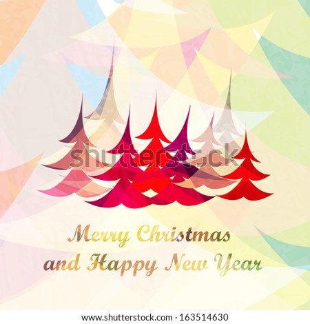 Christmas vector background - happy colors