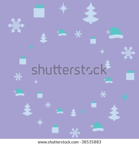 Christmas vector background with elements - stock vector