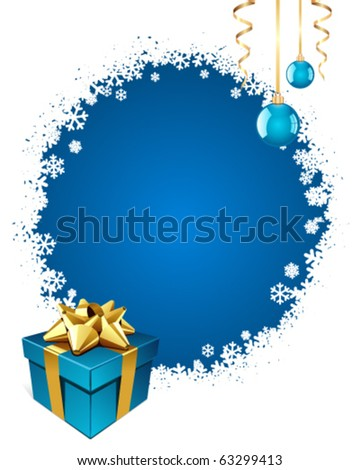 Christmas vector background with gift