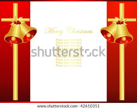 Christmas vector bells design