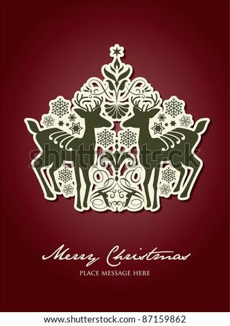 Christmas vector design - stock vector