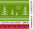 Christmas vector embroidery pattern - stock vector