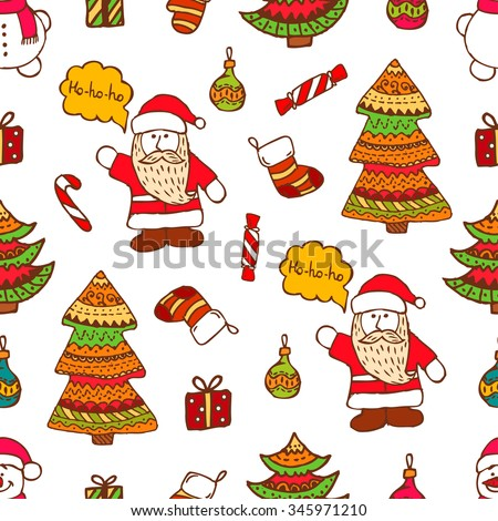 Christmas vector seamless pattern. Vector Christmas design. Perfect for greeting cards, wrapping paper, blogs, packing and ect. - stock vector