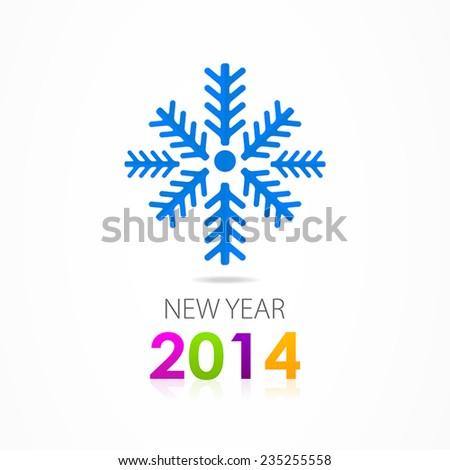 Christmas vector snowflake icon - stock vector