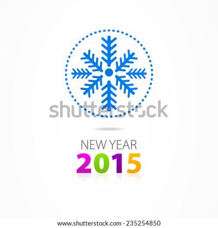 Christmas vector snowflake 2015 logo - stock vector