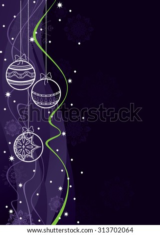 Christmas Vector Sparkly Background. - stock vector