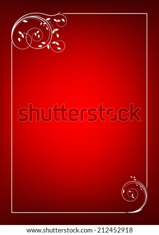 Christmas Vector vintage border frame - stock vector