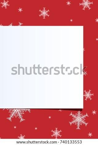 christmas announcement template
