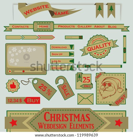 Christmas Webdesign Elements