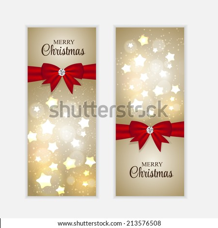 Christmas Website Banner and Card Background Vector Illustration EPS10