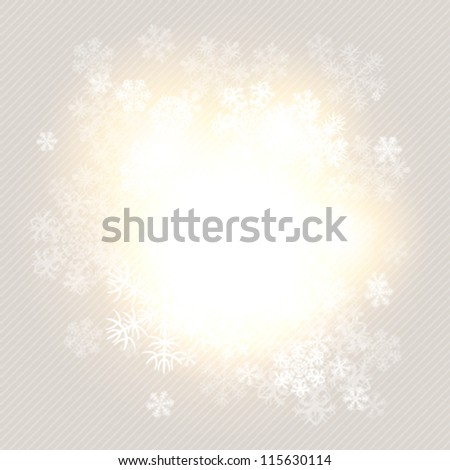 Christmas winter background with snowflakes. Vector illustration. - stock vector