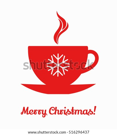 Christmas winter coffee cup. Vector illustration