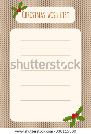 Christmas Wish List Stock Images RoyaltyFree Images Vectors
