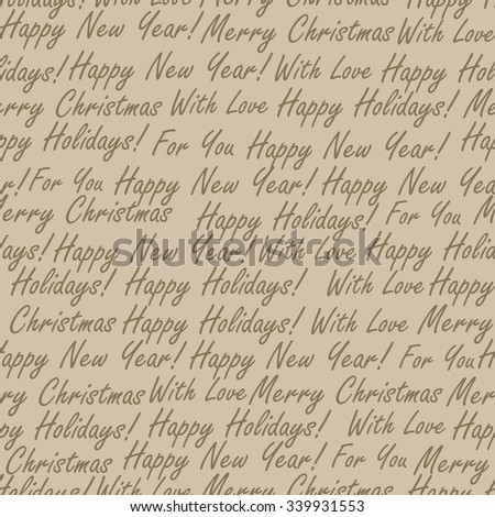 Christmas words seamless pattern