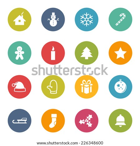 Christmas X-Mas Icons Iconset - stock vector