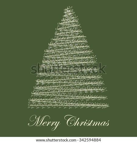 Christmass tree - stock vector