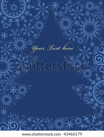 christmass tree silhouette with space for text