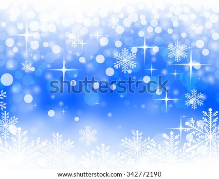 christmassy abstract  bright blue background, vector illustration 