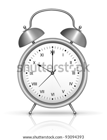 Chrome alarm clock vector