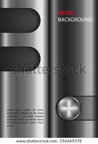chrome metal vector background - stock vector