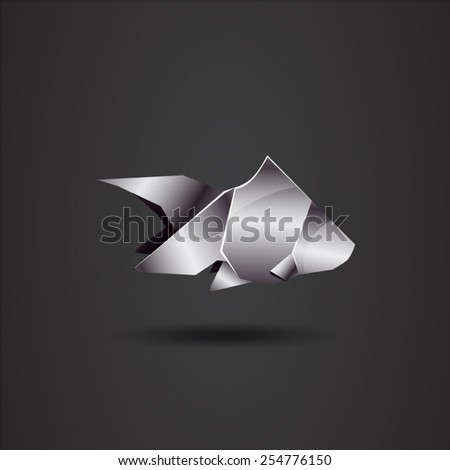 chrome origami fish
