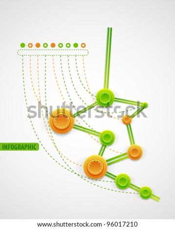 Chronology infographics background - stock vector