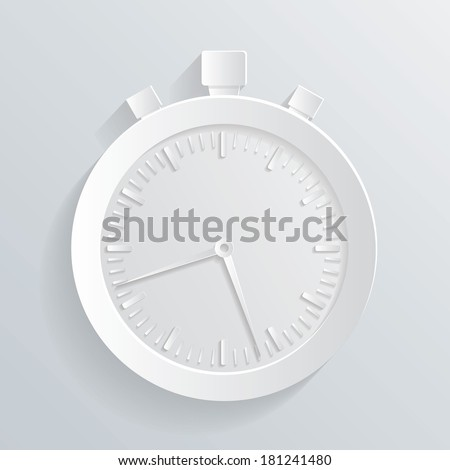 chronometer paper icon - stock vector