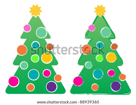 Chrsitmas Tree Designs - stock vector