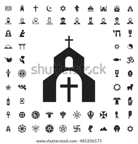 Church icon illustration isolated vector sign symbol