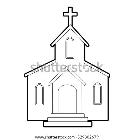 Church Icon Outline Illustration Church Vector Stock
