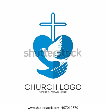 Church Logo Christian Symbols God Has Stock Vector 2018 457012870