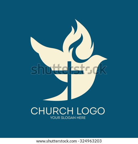 Church logo dove cross flame holy stock vector 324963203 shutterstock church logo dove cross flame holy spirit altavistaventures Images