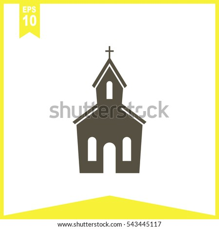 Church Vector Icon.