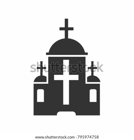 Churche vector in black