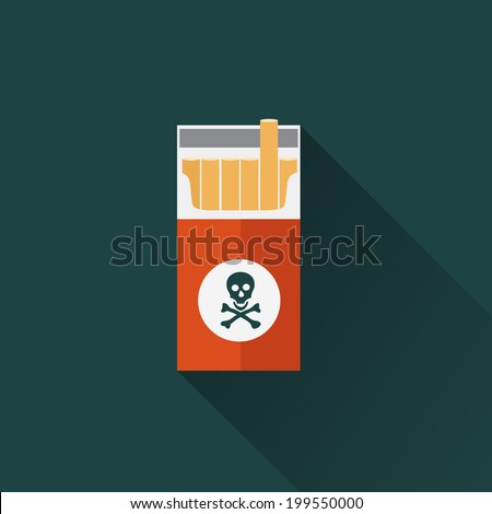cigarette box icon - stock vector