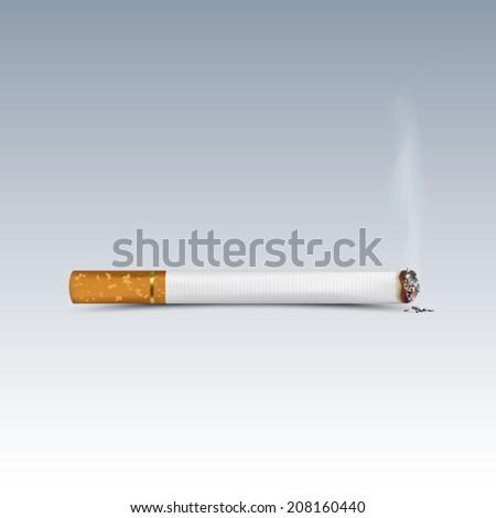 Cigarette burns. Illustration - stock vector