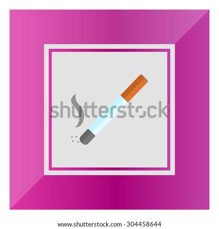 Cigarette icon - stock vector