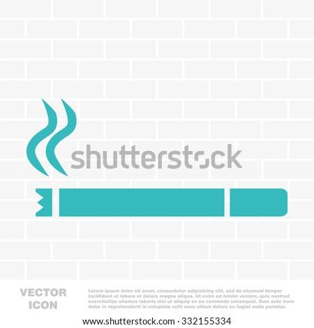 Cigarette icon vector - stock vector