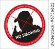 Cigarette smoking (vector silhouette of a man) - stock vector