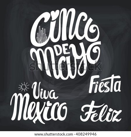 Cinco de mayo greeting lettering greeting stock vector 408249946 cinco de mayo greeting lettering greeting cardxico vectorflat handwritten wordtitle m4hsunfo Image collections