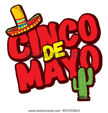 Cinco De Mayo hand drawn lettering design