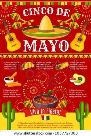 Cinco de mayo mexican greeting card stock vector 1039727383 cinco de mayo mexican greeting card poster for mexico holiday celebration vector design of mexican m4hsunfo