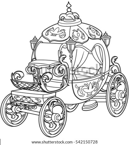 horse carriage coloring pages - photo#34